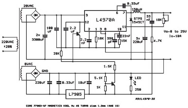 rangkaian pss sangat stabil dengan l4970a